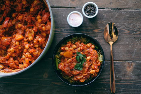 spicy butternut and chickpea tagine