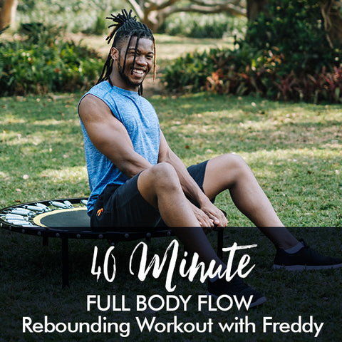 40-Minute FULL BODY FLOW Beginners Rebounding Workout with Freddy