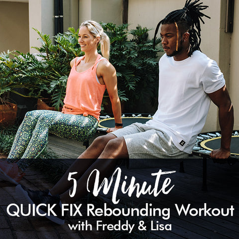 5-Minute QUICK FIX Rebounding Workout with Freddy and Lisa