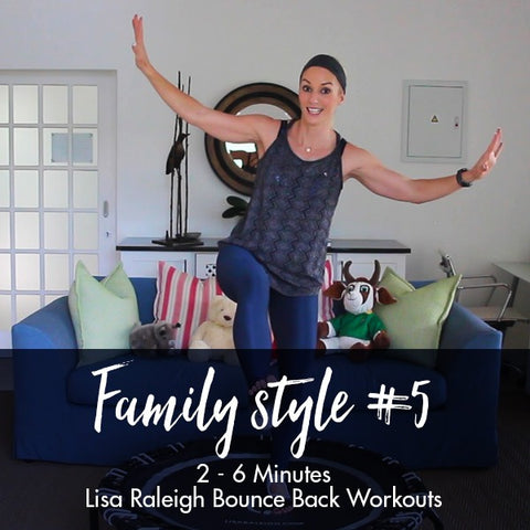 Lisa Raleigh Bounce Back Workouts | Family Style #5 | Age 2-6