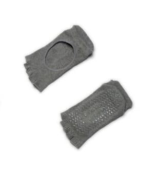 Gina Toeless Grip Socks | Grey