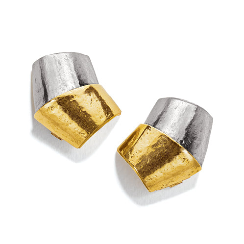 Belperron-Jewelry-Roof-Virgin-Yellow-Gold-Virgin-Gray-Gold-Earclips