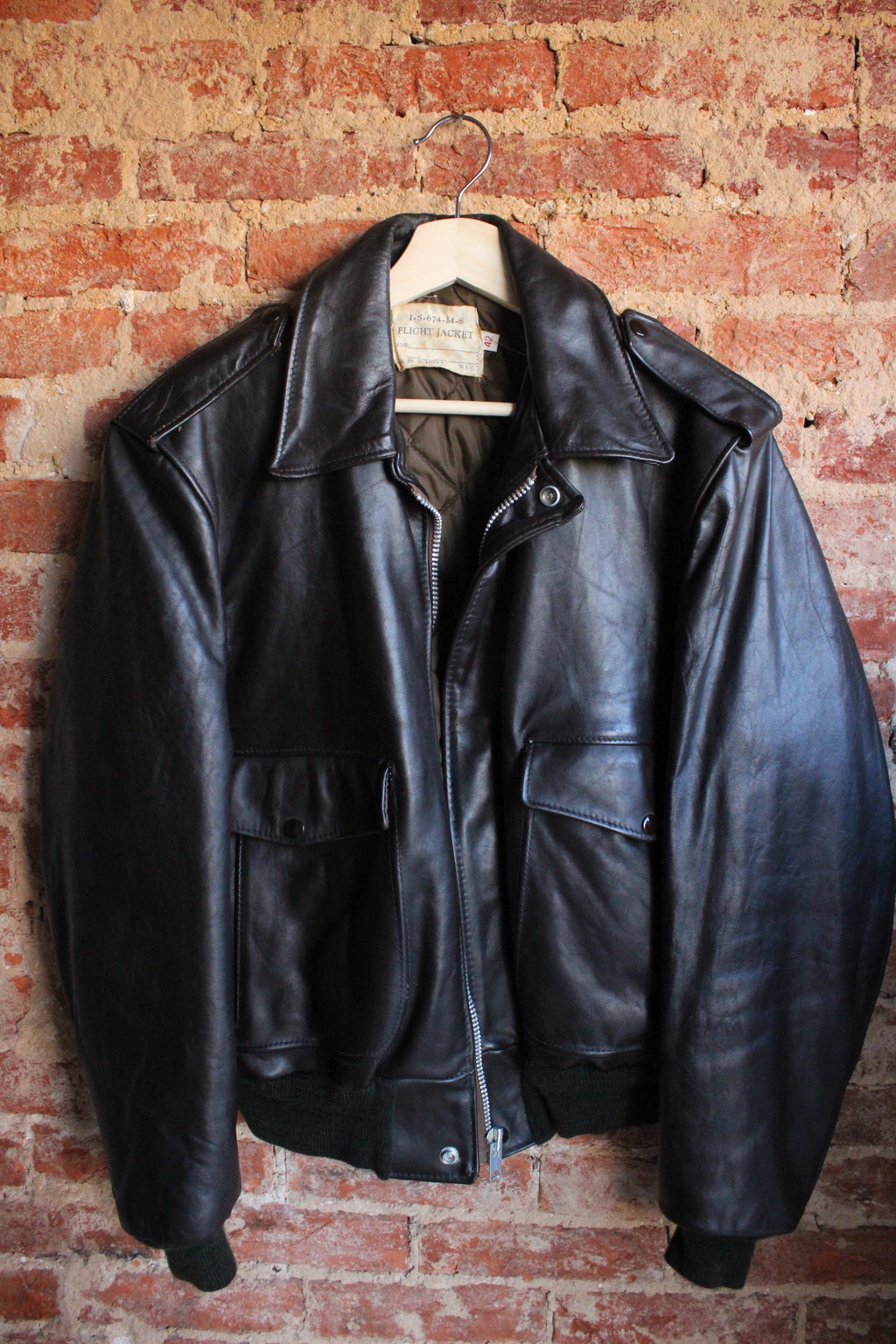1940s Leather Flight Jacket