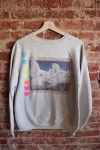 Pig and Rainbow Hearts Crewneck