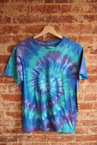 Blue and Purple Tie Dye Tee
