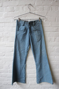 1960's Handmade Striped Denim Flares