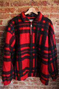 Bugle Boy Plaid Fleece Pullover