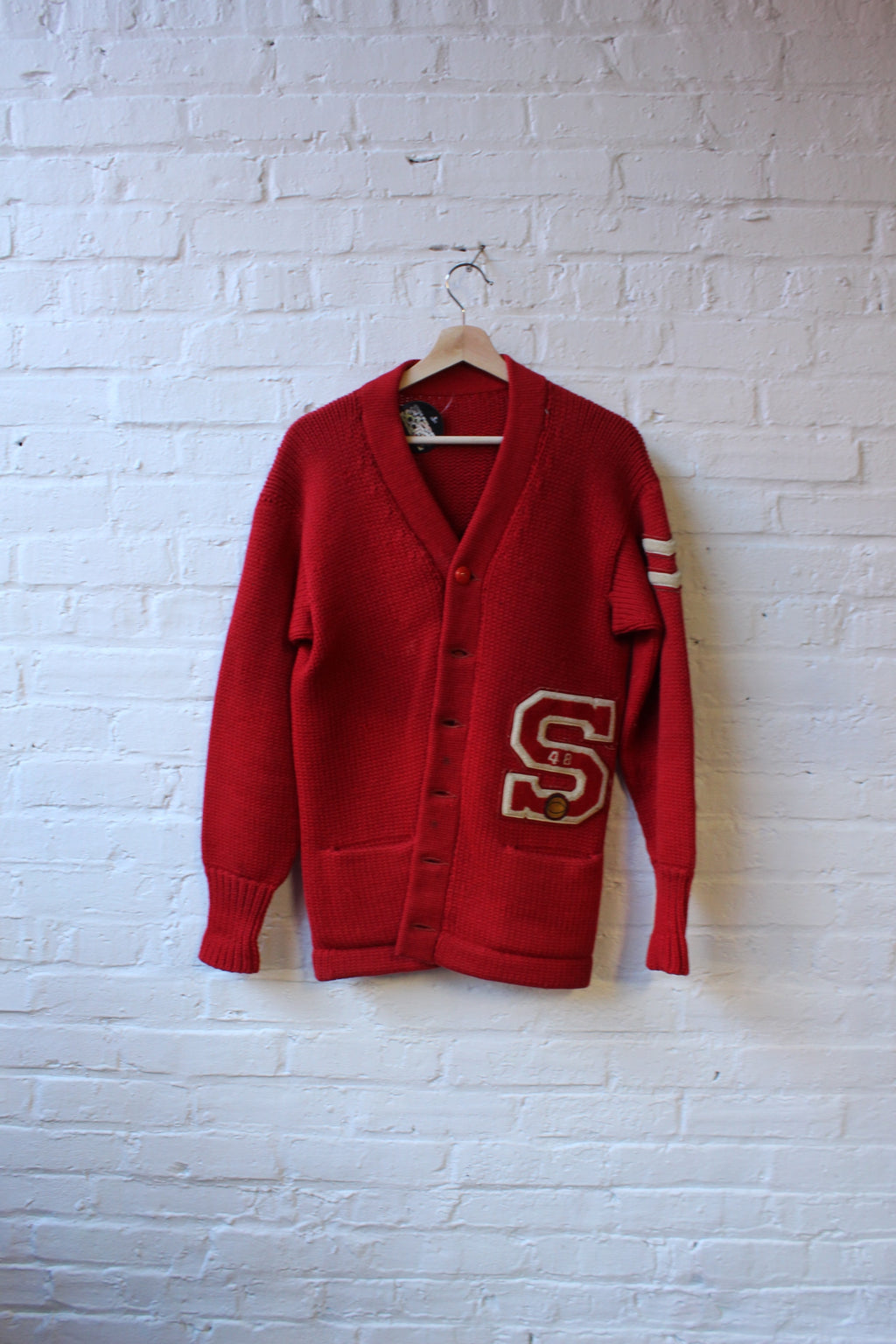 1948 Letterman Cardigan Sweater