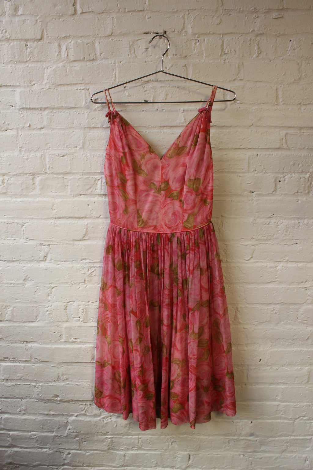 60s Rose Patterned Dress