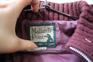 Mallard's Point Deep Purple Coat