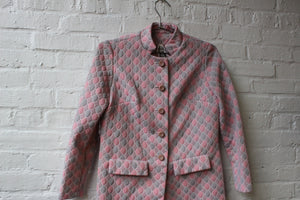 70s Pink & Grey Poly Jacket