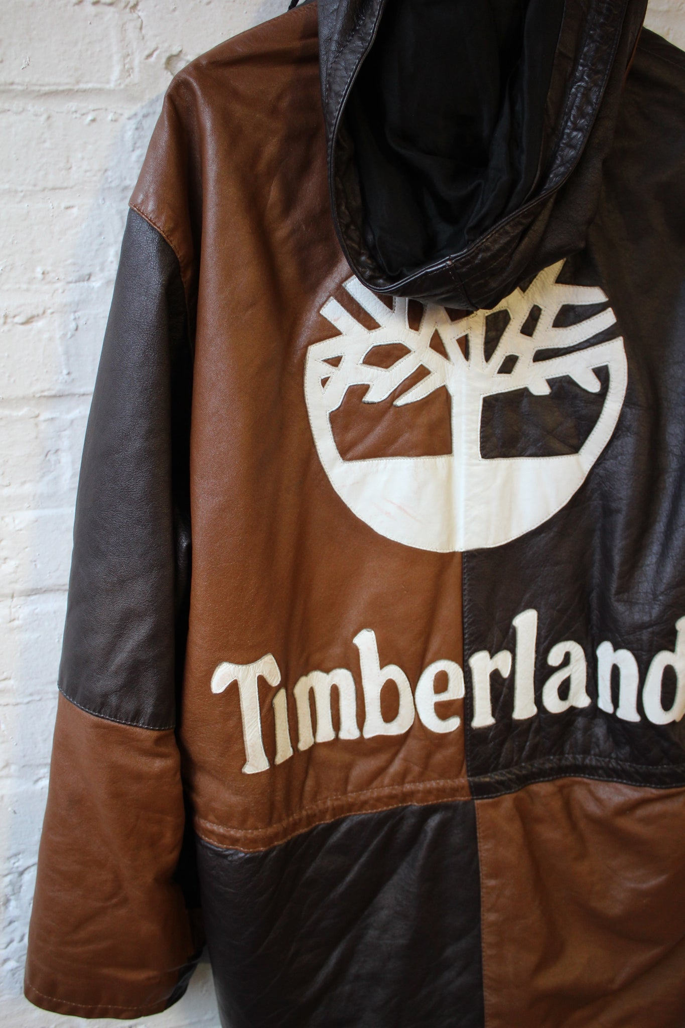 Timberland Inspired Patchwork Leather Coat