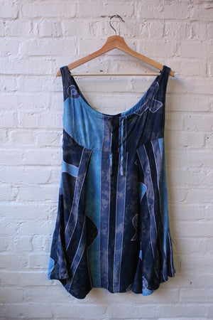 90s Abstract Pattern Dress