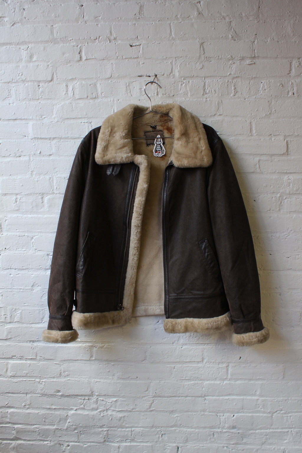 St. Johns Bay Brown Fur Leather Jacket