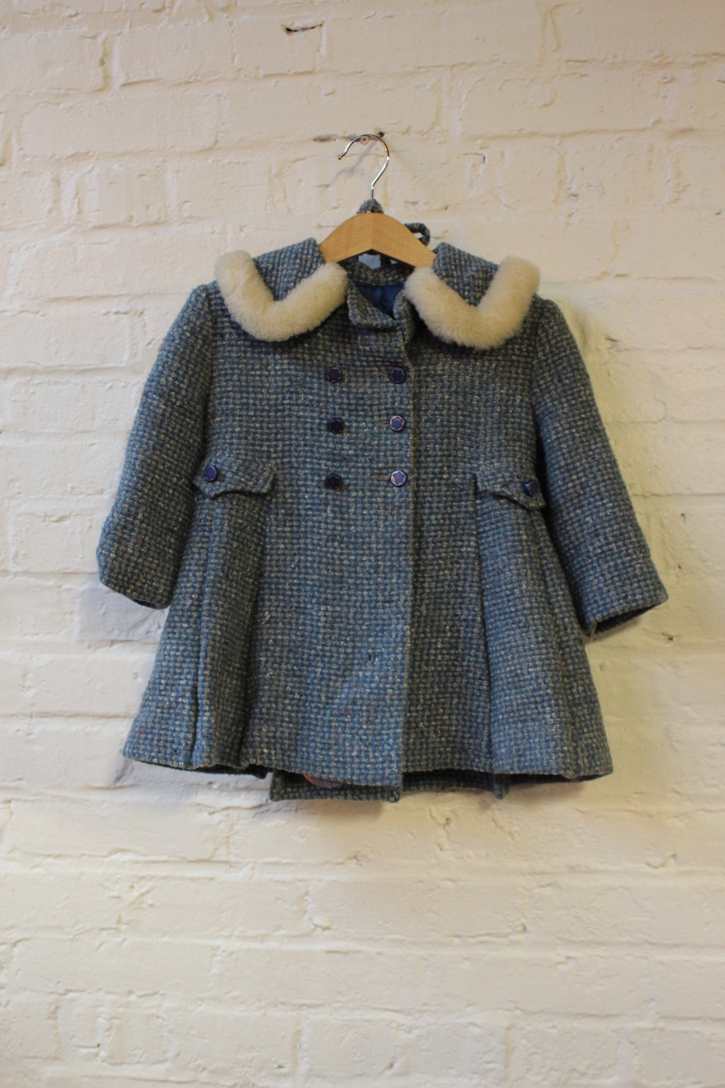 Kids Wool Coat and Hat Set