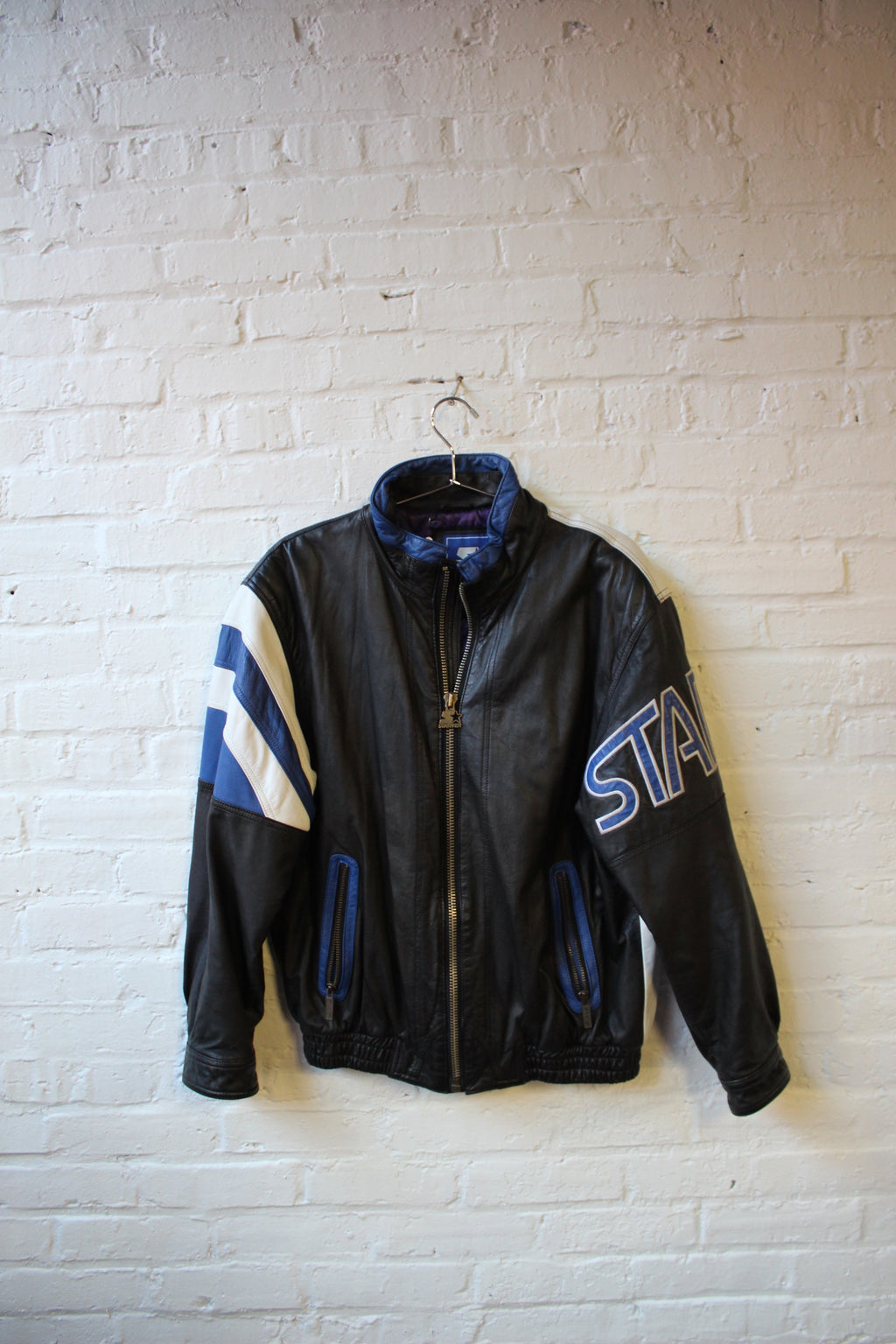 Black/Blue and White Starter Jacket