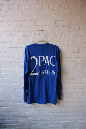 2Pac Blue Graphic Tee