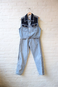 Cache Denim Pant Set
