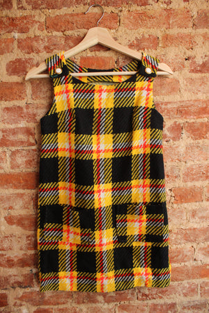 1960's Wool Plaid Dress