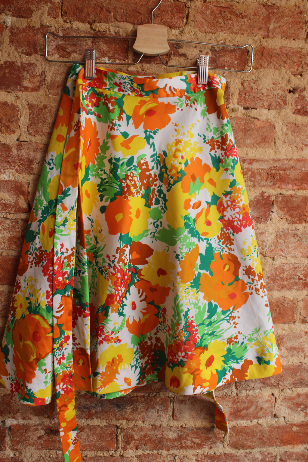 Fall Floral Wrap Skirt