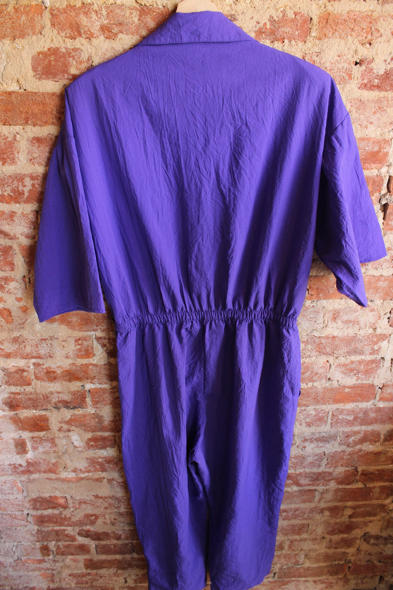 80's Purple Jumpsuit