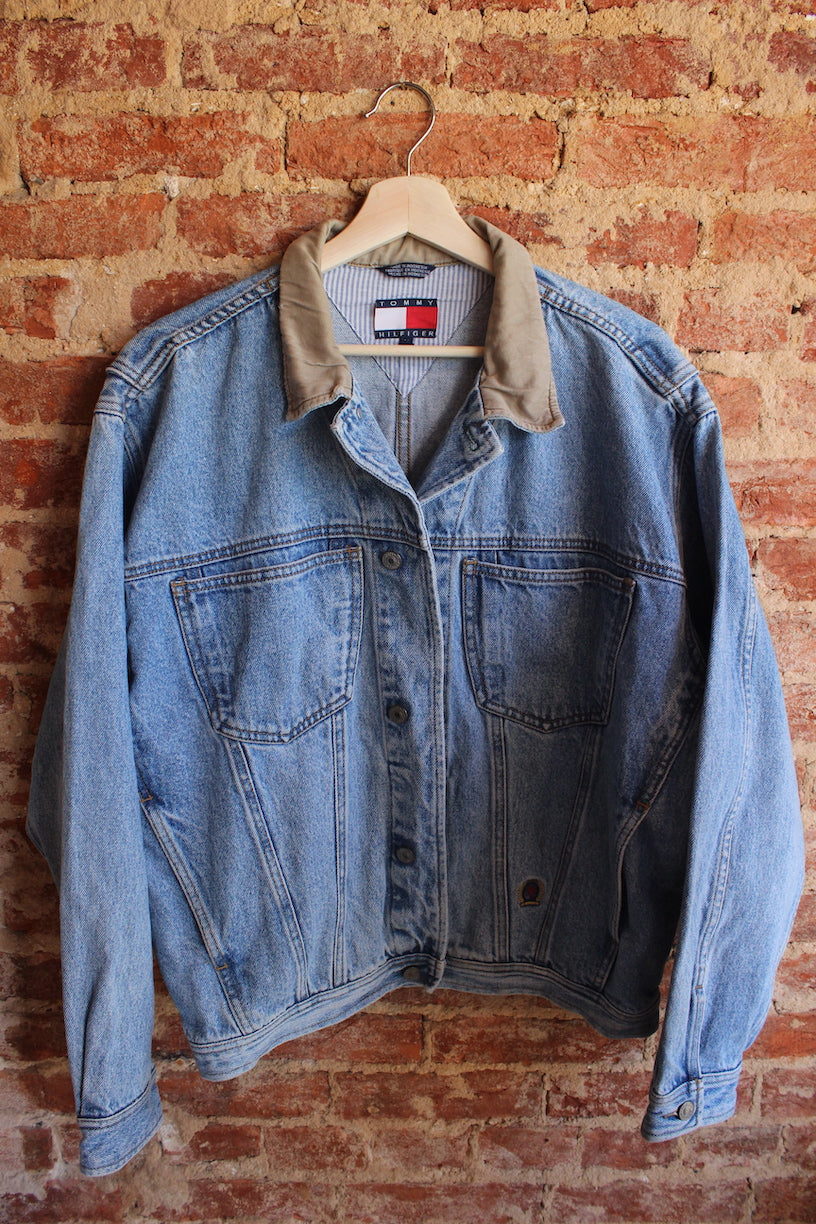 Tommy Hilfiger Tan Collared Denim Jacket
