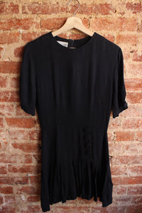 Black Casual Corner Dress