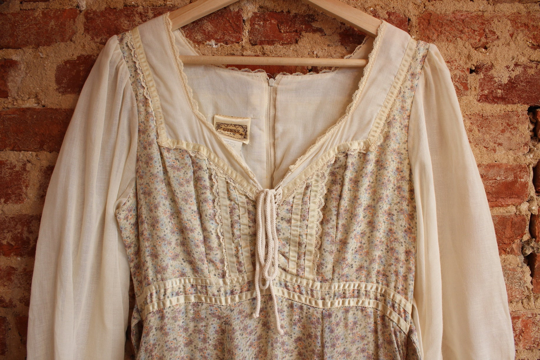 Floral and Cream Gunne Sax Dress