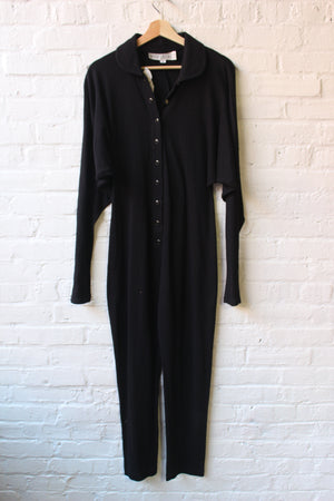 Black Button Up Onesie