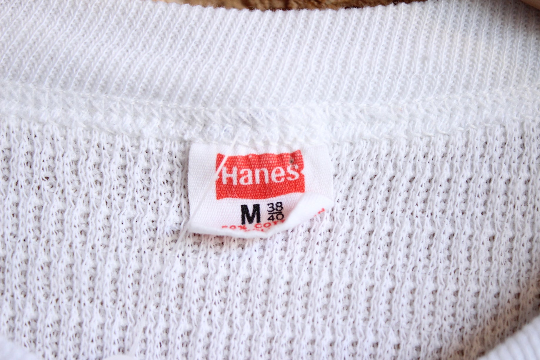 White Hanes Thermal