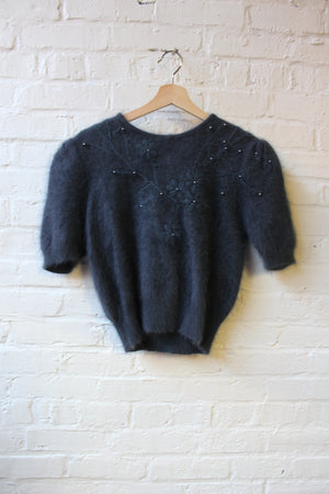 Beaded Sweater Top