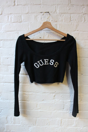 Guess Embroidered Crop Top