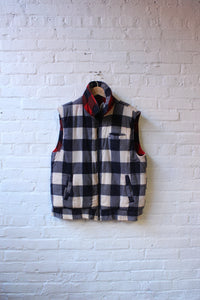 Plaid Reversible Puffer Vest