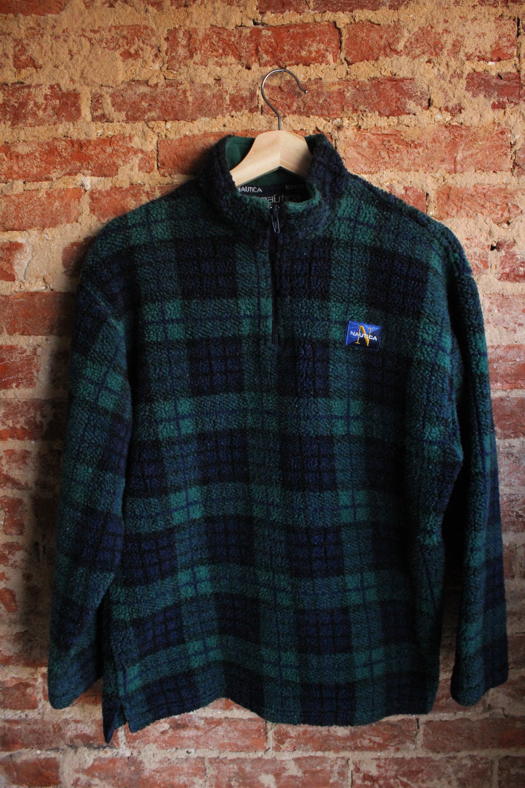 Nautica Plaid Fleece Pullover