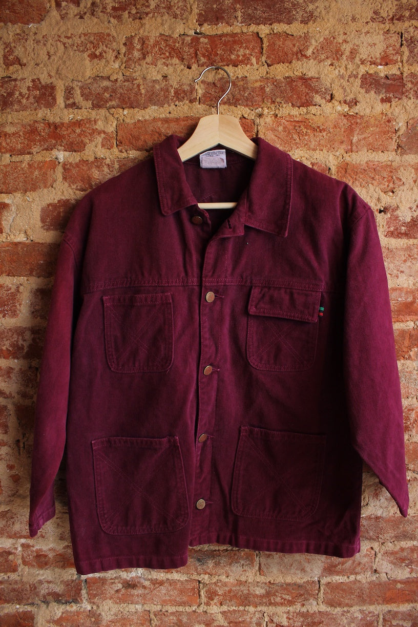 Cross Colours Burgundy Denim Jacket