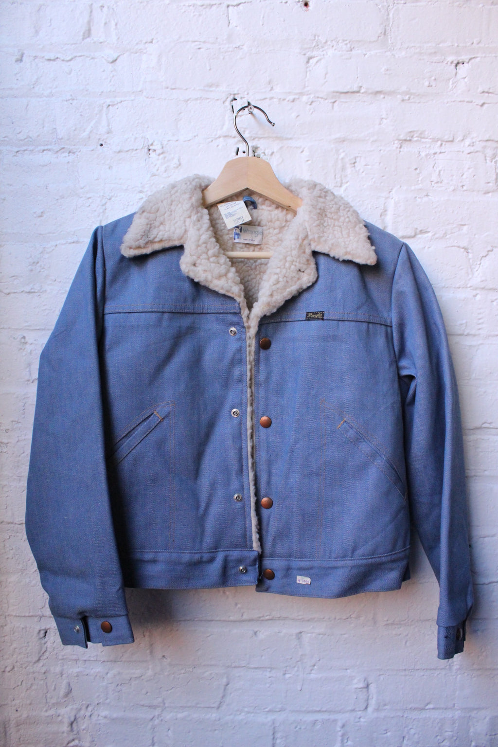 Wrangler Fur Lined Denim Jacket