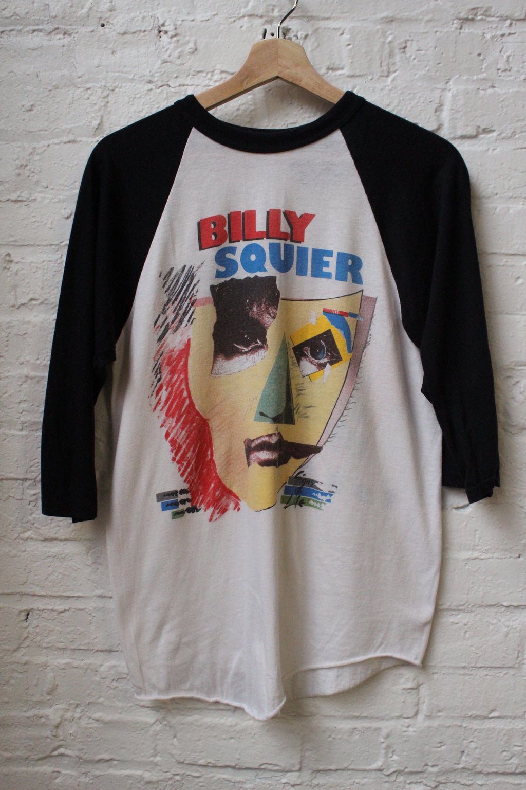 Billy Squier 1984 Tour Raglan Tee