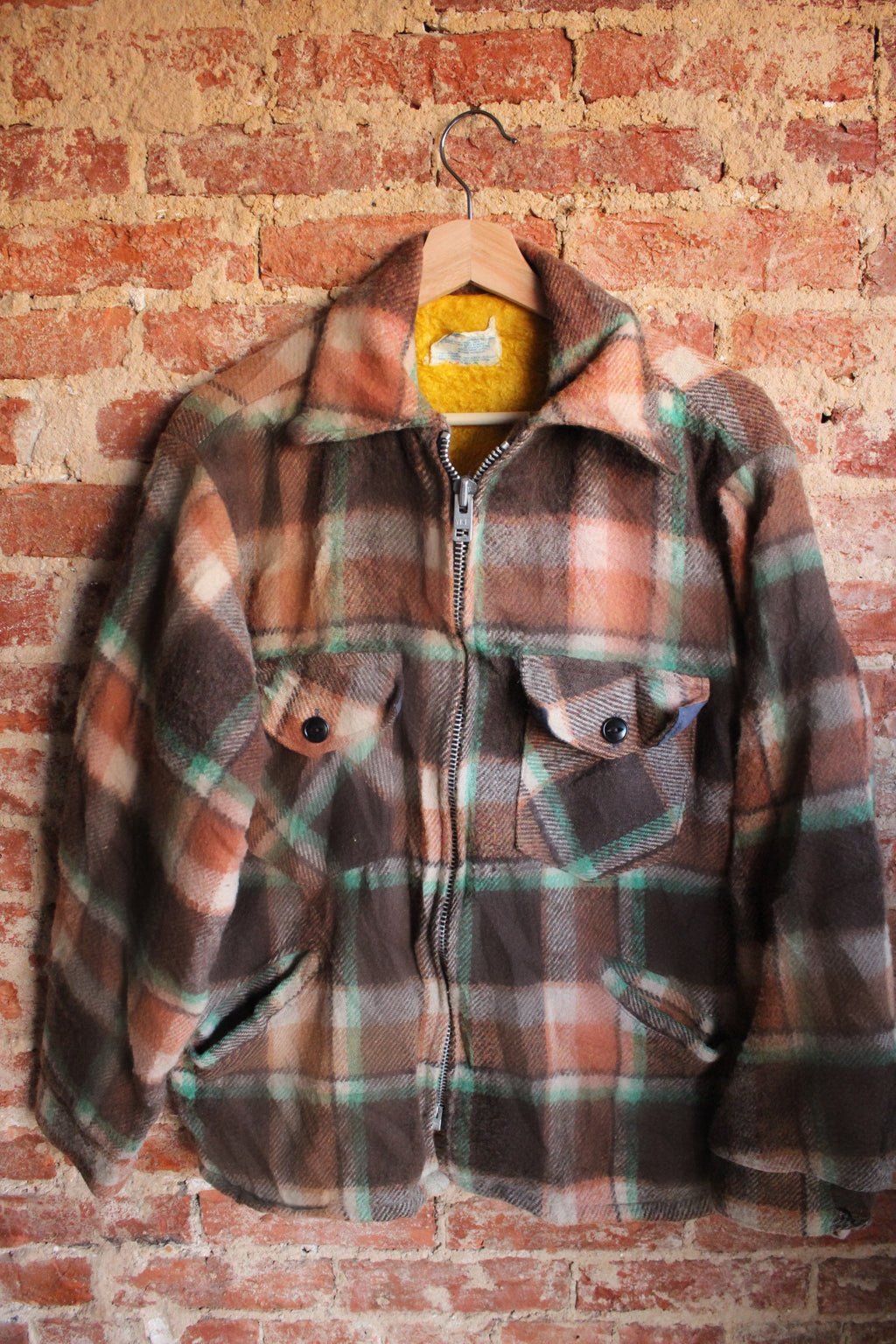 Lined Zip-Up Flannel Jacket