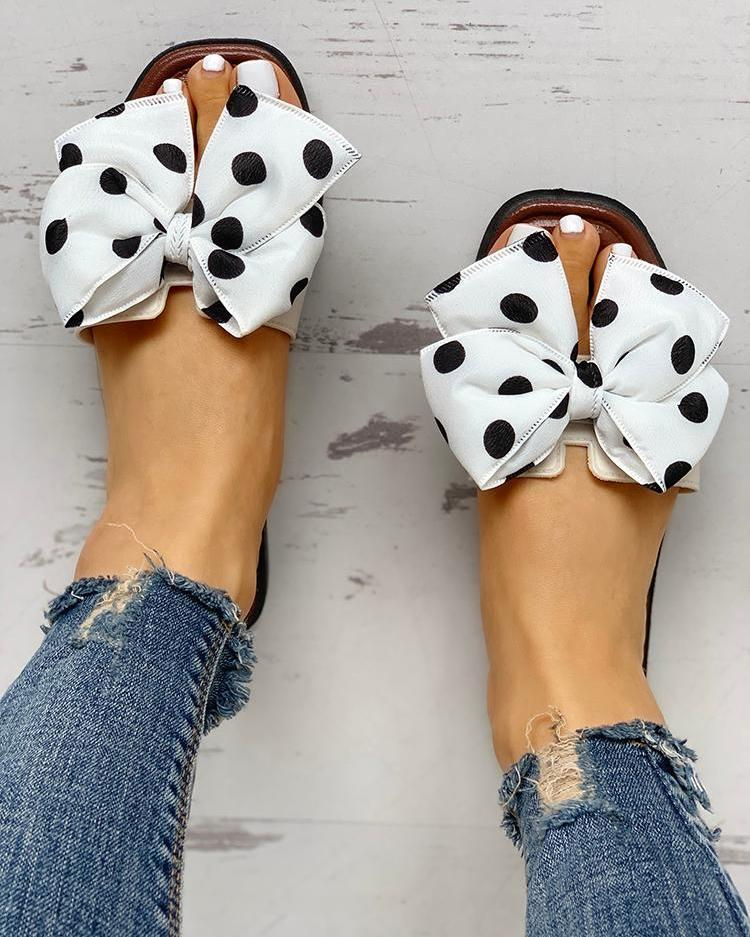 Dekorhea Bowknot Design Open Toe Sandals