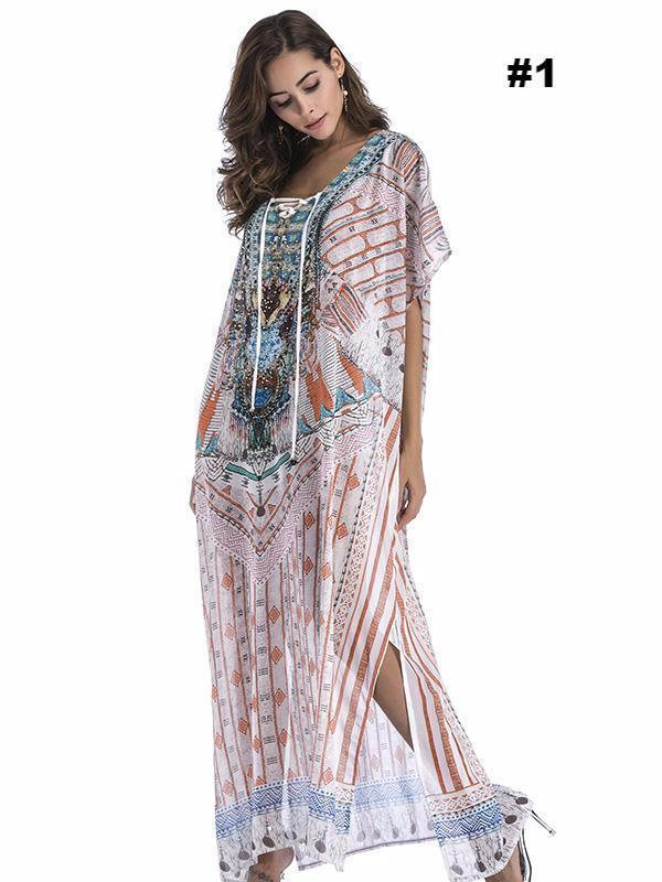 Dekorhea Floral Printed Loose Maxi Dress