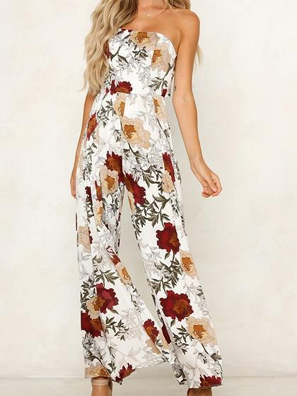 Dekorhea Floral Print Tie Back Dresses And Rompers