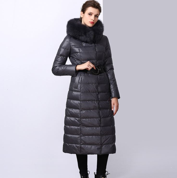 Oversize Hooded Faux-Fur-Trim Puffer Coat