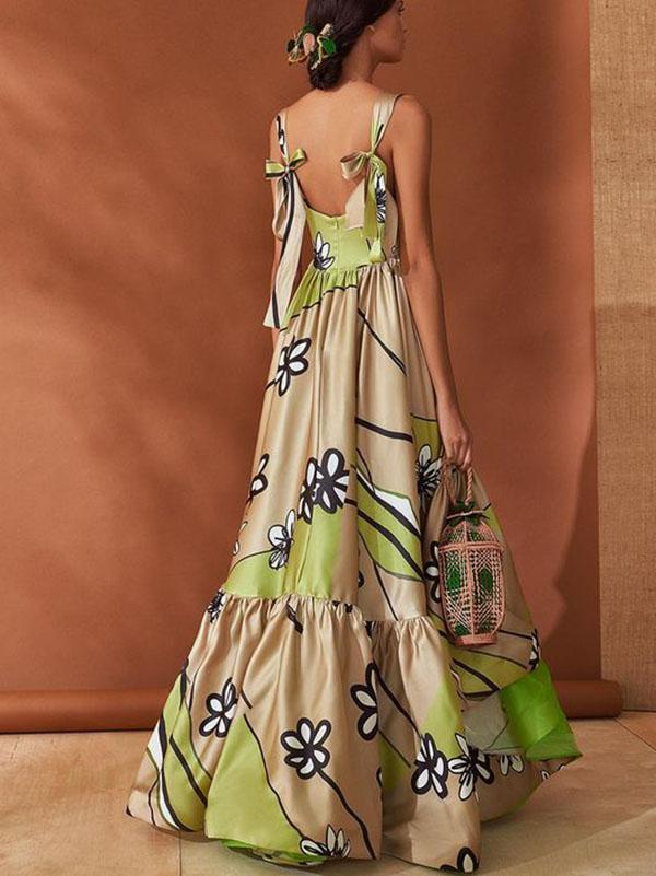 Dekorhea Bohemia Backless Backless Maxi Dress