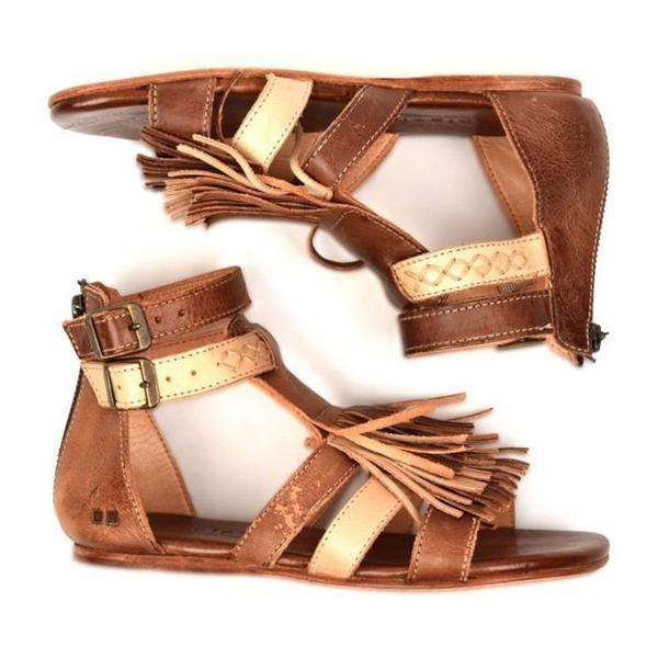 Zipper Heel Covering Open Toe Hollow Low-Cut Upper Sandals