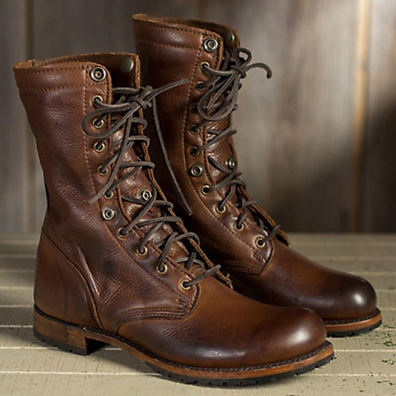 Fashion High Quality Martin Boots Leather Short Martin British Casual Boots
