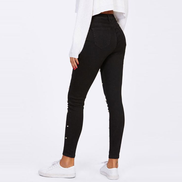 Dekorhea black jeans for Women
