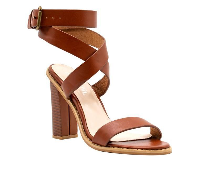 Dekorhea Chunky high heels Peep-Toe Comfortable Sandals For Women