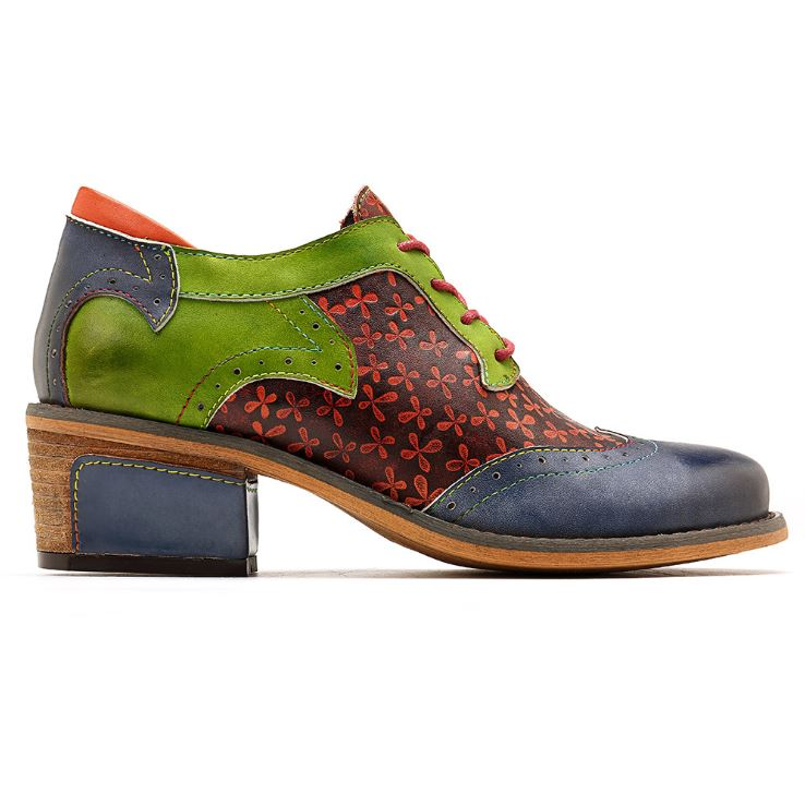Dekorhea Genuine Leather Retro National Style Shoes For Women