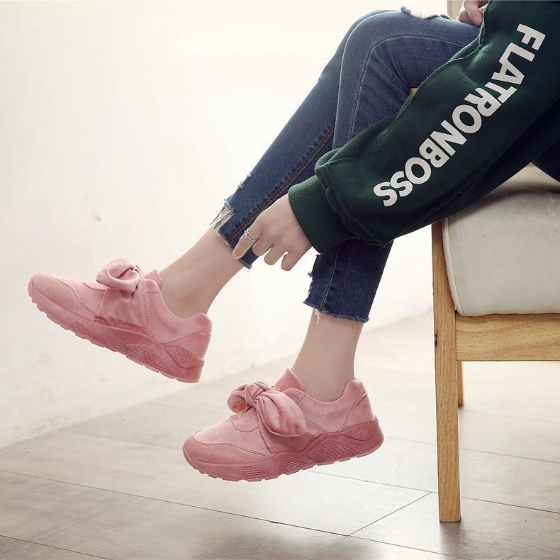 Casual Bow-knot Wild Flat Sneakers