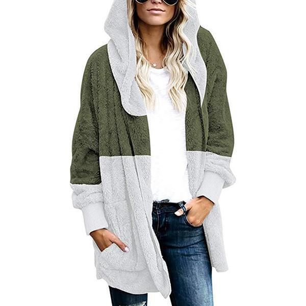 Women's Winter Hooded Fluffy Coat